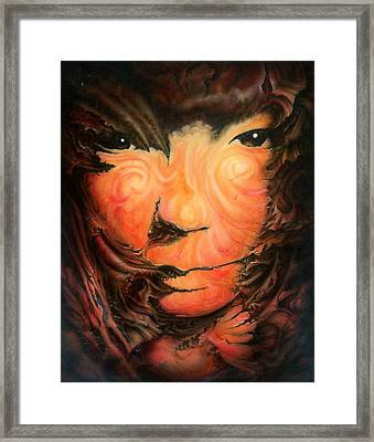 Pagan Poet Framed Print by Victor Whitmill