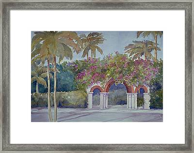 Palm Beach Gates Framed Print