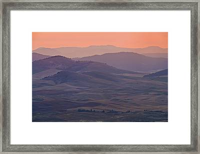 Palouse Morning From Steptoe Butte Framed Print