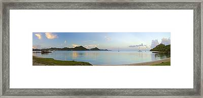Framed Print featuring the photograph Panoramic1- St Lucia by Chester Williams