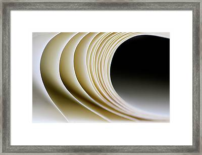 Framed Print featuring the photograph Paper Curl by Pedro Cardona