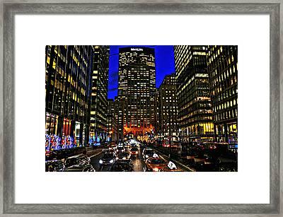 Park Avenue At Night Framed Print