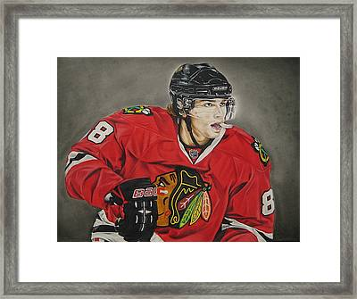 Patrick Kane Framed Print by Brian Schuster