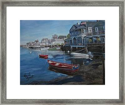 Peaseful Harbor Framed Print by David Poyant