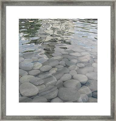 Framed Print featuring the photograph Pebbles by Nancy Dole McGuigan