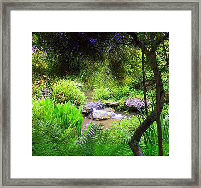 Peekthrough The Trees Framed Print by Sheri McLeroy
