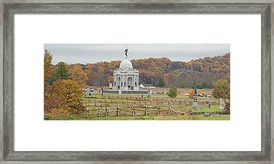 Pennsylvania Monument At With Little Framed Print