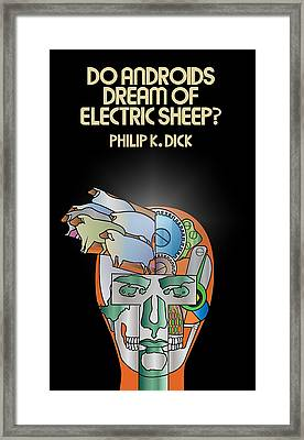 Philip K Dick - Electric Sheeps Framed Print by Tomas Raul Calvo Sanchez