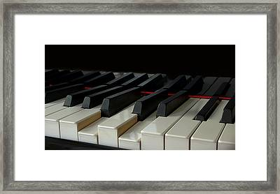 Piano Keyboard Framed Print