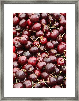 Pile Of Cherries Framed Print by Carol Groenen