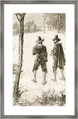 Pilgrims Framed Print