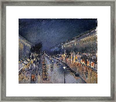 Pissarro: Paris At Night Framed Print by Granger