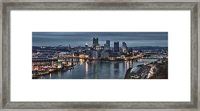 Pittsburgh Skyline 2 Framed Print by Wade Aiken