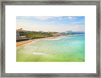 Plage De La Cote Des Basques, Biarritz, Aquitaine, Framed Print by John Harper