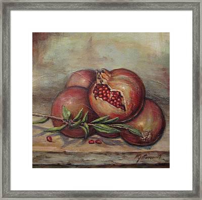 Pomegranetes Framed Print