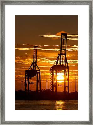 Port Of Charleston Sunset II  Framed Print by Dustin K Ryan