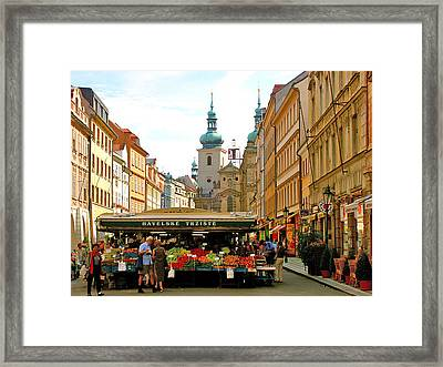 Prague Market Framed Print by Randy Matthews