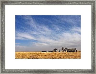 Prarie House Framed Print