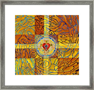 Psychedelic Rose Framed Print by Mark Jennings