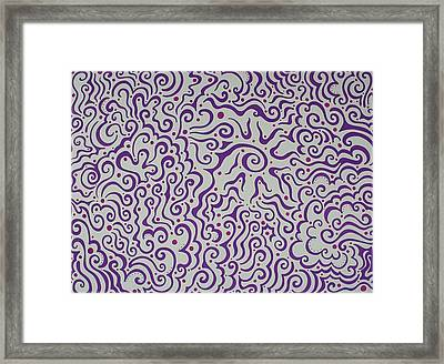Purple Abstract Framed Print by Mandy Shupp
