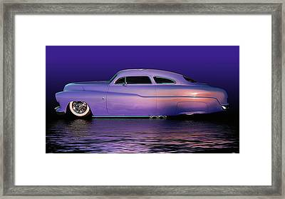 Purple Sled Framed Print by Bill Dutting