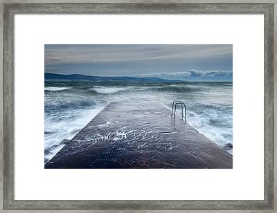 Raging Sea Framed Print by Evgeni Dinev