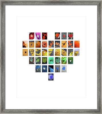 Rainbow Hearts Framed Print by Boy Sees Hearts