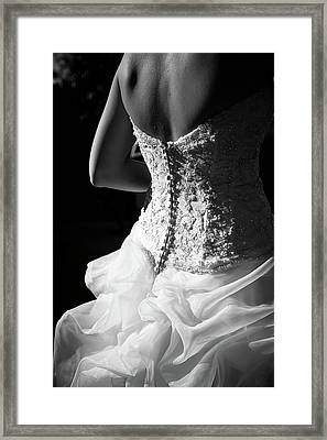 Rear View Of Bride Framed Print