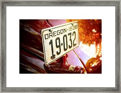 Red 38' Framed Print