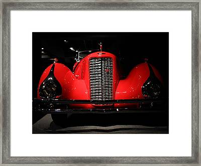 Red Cadillac Framed Print by Transportation Photographs