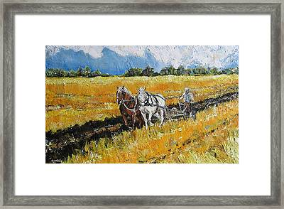 Framed Print featuring the painting Refreshing The Soil by Debora Cardaci