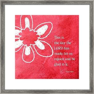 Rejoice Framed Print by Linda Woods