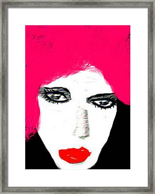 Framed Print featuring the digital art Retro Pink by Rc Rcd