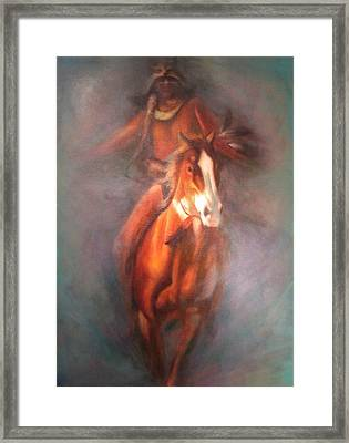 Return Of The Warrior Framed Print by Elizabeth Silk