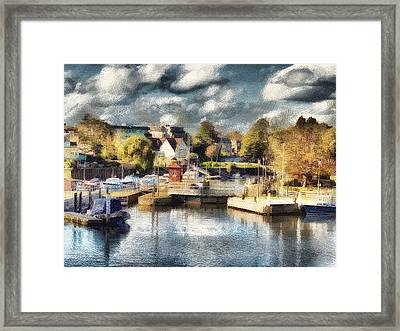 Riverview V Framed Print