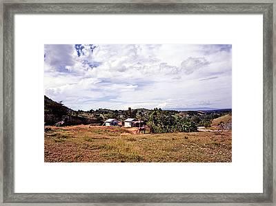 Road To Jacmel Framed Print by Johnny Sandaire
