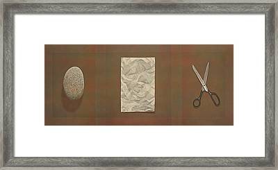 Rock Paper Scissors Framed Print by Laurie Stewart