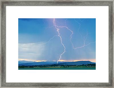 Rocky Mountain Front Range Foothills Lightning Strikes 1 Framed Print
