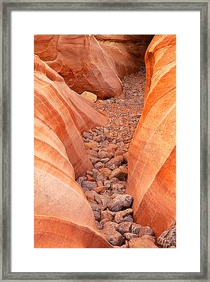 Rocky Trail Framed Print by James Marvin Phelps