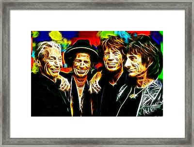 Rolling Stones Mystical Framed Print by Paul Van Scott