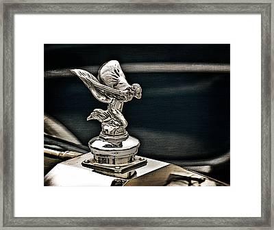 Rolls Royce Hood Ornament Framed Print by Douglas Pittman
