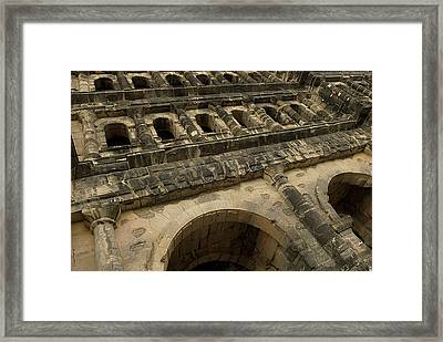 Framed Print featuring the photograph Roman City Gate - Porta Nigra by Urft Valley Art