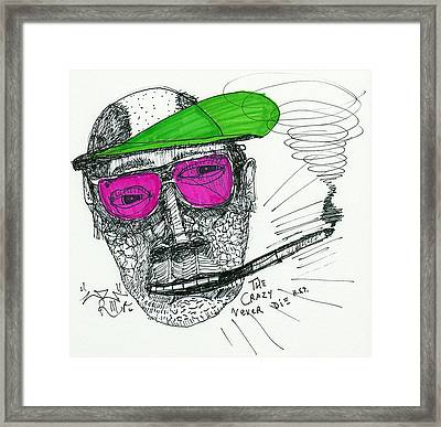Rose Colored Glasses Framed Print by Robert Wolverton Jr