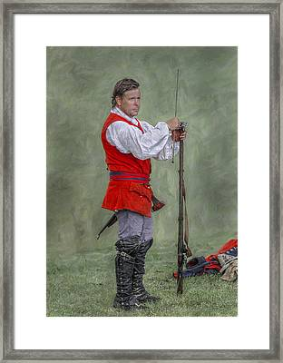Royal American Soldier French And Indian War Framed Print by Randy Steele