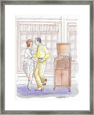 Rudolph Valentino Teaching The Tango To Actress Alice Terry, 1921 Framed Print