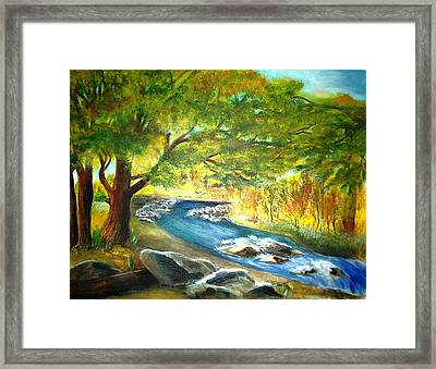 Running Waters Framed Print by Vivian  Mosley