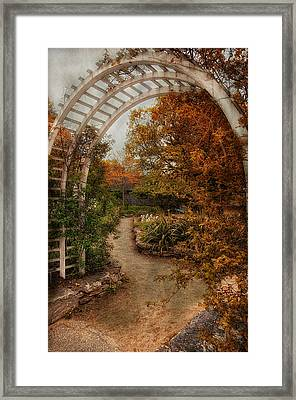 Rusting Garden Framed Print by Robin-Lee Vieira