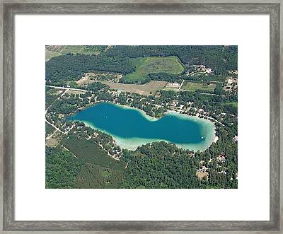 S-024 Silver Lake Little Waushara County Wisconsin Framed Print by Bill Lang