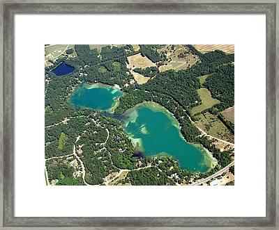 S-045 Stratton Lake Waupaca County Wisconsin Framed Print