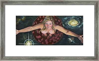Framed Print featuring the painting Sacred Circle II by Sheri Howe